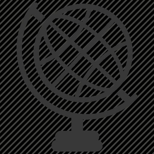 education, geography, globe, navigation, world icon