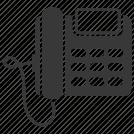 communication, connection, handset, landline, phone, telephone icon
