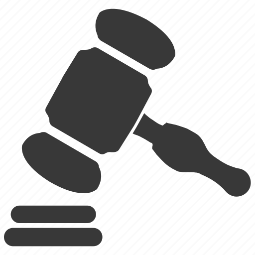 gavel, hammer, justice, law, legal insurance icon