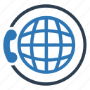 communication, conference call, global business, global communication, network, telephone icon