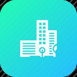 bulding, city, gogreen, green, greencity, smart icon