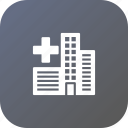 building, city, health, help, hospital, smart, treatment icon