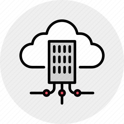 building  city  cloud  hub  infrastructure  network  organization icon