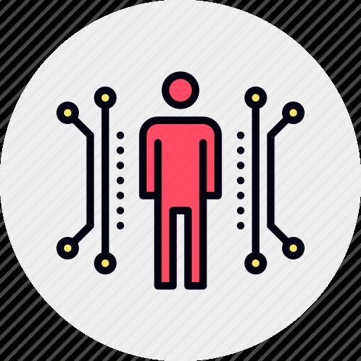 anthropometry, body, data, dimensional, human, public, scale icon