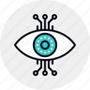 cyber, eye, infrastructure, monitoring, surveillance, vision icon