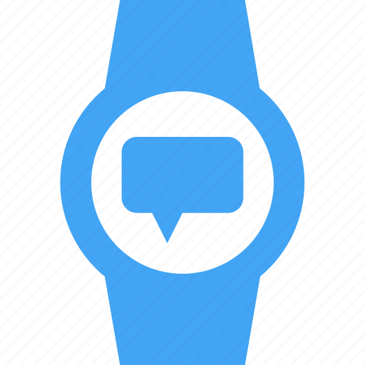 chat, clock, message, smart watch, time, watch icon