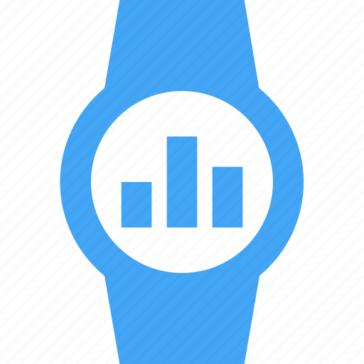 clock, graph, smart watch, time, watch icon