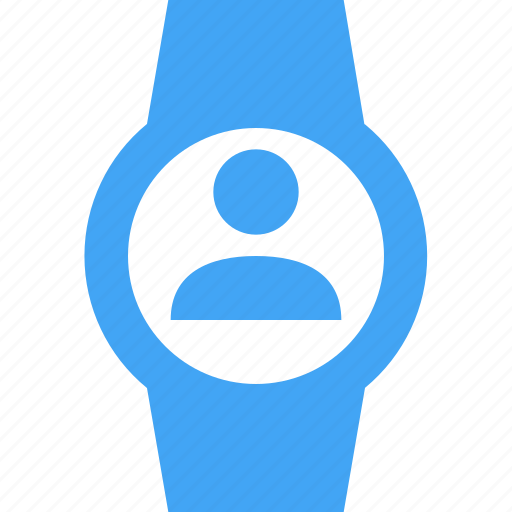 avatar, clock, smart watch, time, user, watch icon