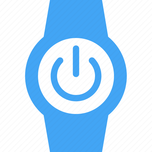 clock, power, smart watch, time, watch icon
