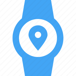 clock, location, smart watch, time, watch icon