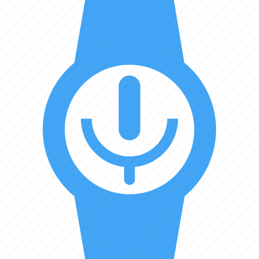 clock, microphone, record, smart watch, time, watch icon