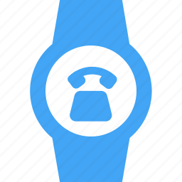 call, clock, device, phone, telephone, time, watch icon