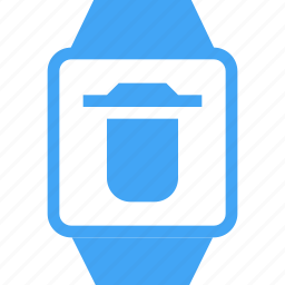 clock, delete, device, smart watch, time, watch icon