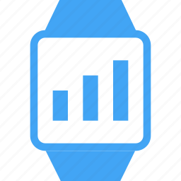 clock, device, graph, smart watch, time, watch icon