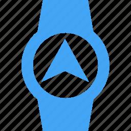 airplane, clock, device, navigation, send, smart watch, watch icon