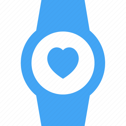 clock, device, heart, like, smart watch, time, watch icon