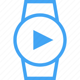 clock, device, play, smart watch, time, watch icon