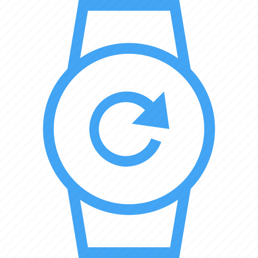 Clock, device, reload, smart watch, sync, watch icon - Download on Iconfinder
