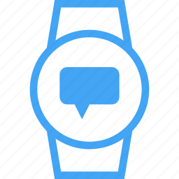 chat, device, message, smart watch, watch icon