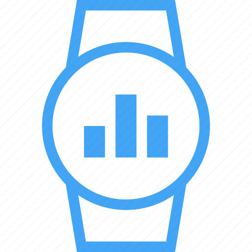 clock, device, graph, smart watch, watch icon