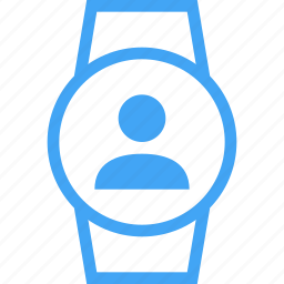 avatar, device, person, smart watch, user, watch icon