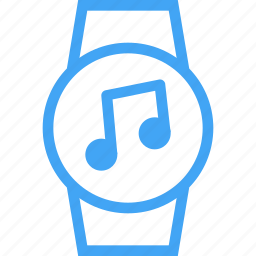 audio, device, music, smart watch, watch icon