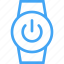 clock, device, power, smart watch, watch icon