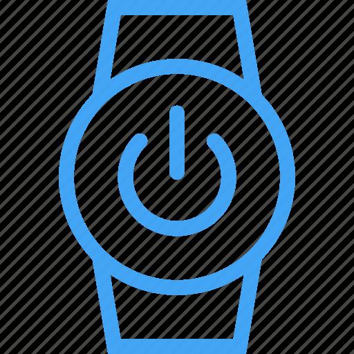 clock, device, power, smart watch, watch icon
