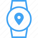 clock, device, location, smart watch, watch icon