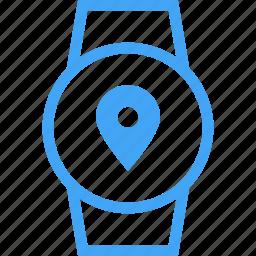 clock, device, location, smart watch, watch icon