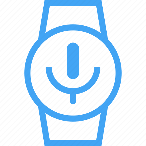 clock, device, microphone, record, smart watch, watch icon