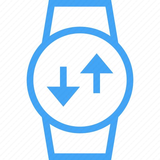 clock, device, reload, smart watch, sync, time, watch icon