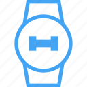 clock, device, dumbell, fitness, smart watch, watch, weight icon