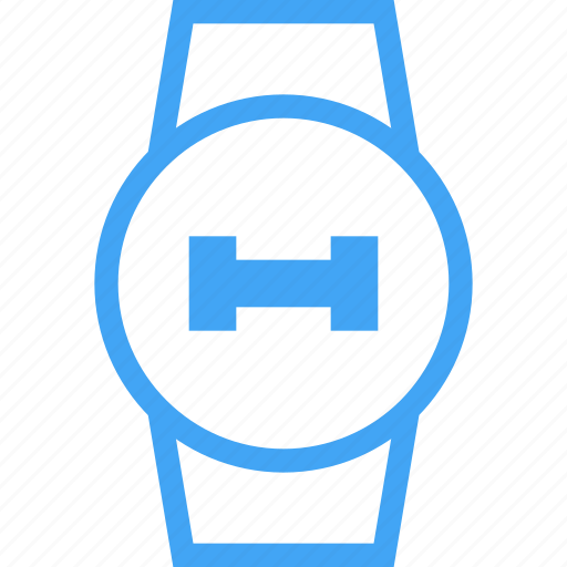 Weight, clock, watch, smart watch, dumbell, fitness, device icon
