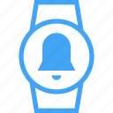 bell, clock, device, smart watch, time, watch icon