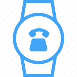 clock, phone, smart watch, telephone, time, watch icon