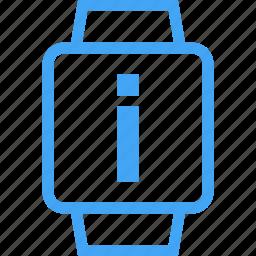 clock, device, information, smart watch, watch icon