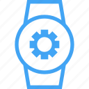 clock, device, settings, smart watch, watch icon