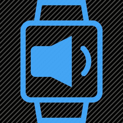 clock, device, smart watch, sound, volume, watch icon