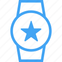 device, favorite, smart watch, star, watch icon