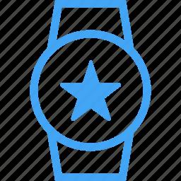 device, favorite, smart watch, star, watch icon