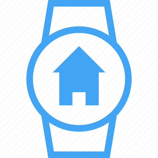 clock, device, home, house, smart watch icon