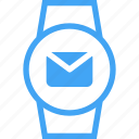 clock, watch, smart watch, device, message, email