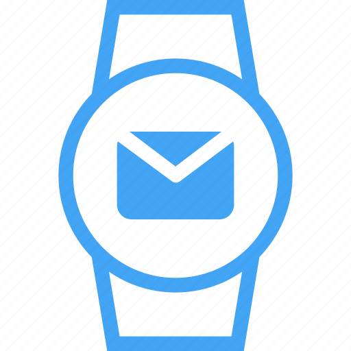 clock, device, email, message, smart watch, watch icon