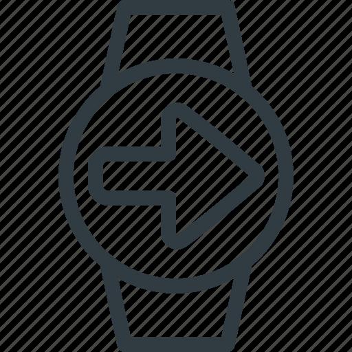 concept, send, smart, smartwatch, technology, watch icon