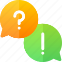 education, question, speech, talk icon