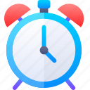 alarm, clock, notification, time, waker icon