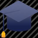 education, graduation, hat, school icon