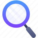 education, glass, loop, magnify glass, zoom icon