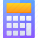 calculator, education, mathematic, number, study icon